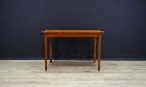 TEAK TABLE RETRO 60 70 SCANDINAVIAN DESIGN VINTAGE