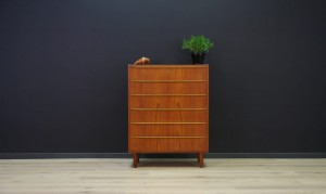 CLASSIC CHEST OF DRAWERS TEAK 60 70 VINTAGE