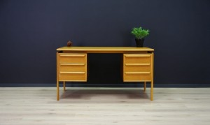 GV MØBLER WRITING DESK RETRO VINTAGE ASH