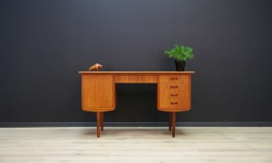 WRITING DESK DANISH DESIGN MID CENTURY TEAK VINTAGE