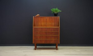 SECRETAIRE TEAK DANISH DESIGN RETRO CLASSIC