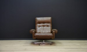 DANISH DESIGN ARMCHAIR LEATHER VINTAGE RETRO