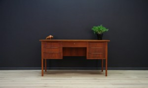 TEAK WRITING DESK VINTAGE DANISH DESIGN RETRO