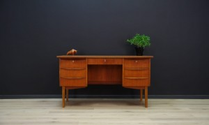 RETRO WRITING DESK DANISH DESIGN 60 70 TEAK
