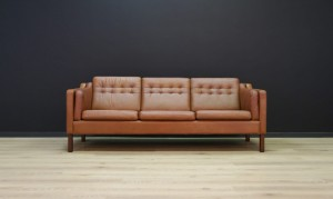 DANISH DESIGN SOFA LEATHER VINTAGE MID CENTURY