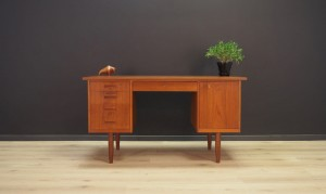 TEAK WRITING DESK MID-CENTURY RETRO VINTAGE