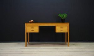 RETRO WRITING DESK ASH VINTAGE DANISH DESIGN
