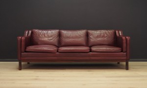 SOFA LEATHER VINTAGE DANISH DESIGN 60 70