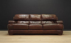 SOFA VINTAGE LEATHER DANISH DESIGN 60 70
