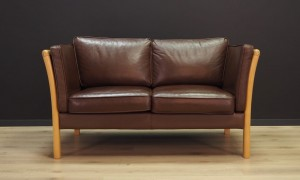 STOUBY SOFA VINTAGE 60 70 LEATHER RETRO