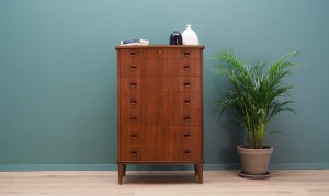 CHEST OF DRAWERS  TEAK 60 70 DANISH DESIGN VINTAGE
