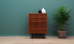 CHEST OF DRAWERS TEAK 60 70 VINTAGE DANISH DESIGN