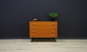 TEAK DANISH DESIGN CHEST OF DRAWERS 60 70 RETRO