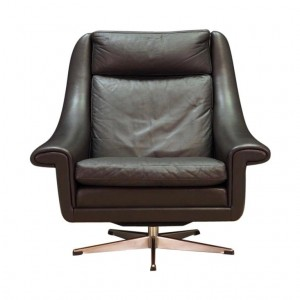 AAGE CHRISTENSEN ARMCHAIR LEATHER 60 70 VINTAGE