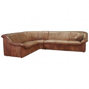 CORNER SOFA 60 70 VINTAGE LEATHER