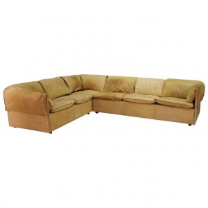 N.EILERSEN CORNER SOFA LEATHER 60 70 VINTAGE