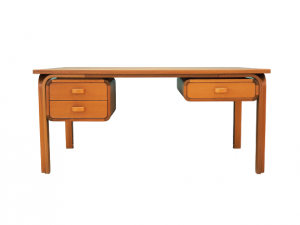Desk mahogany, Danish design, 70's, producer: Magnus Olesen