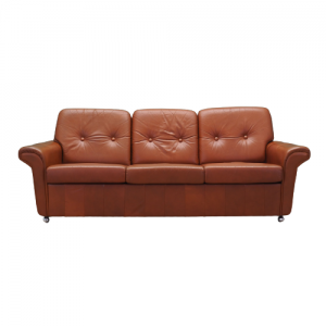 Leather sofa, 60's, Danish design, production: Denmark