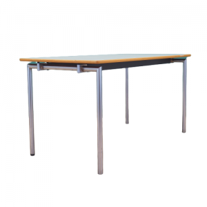 Laminated table, made in 2000, Danish design, manufactured by Randers Møbelfabrik