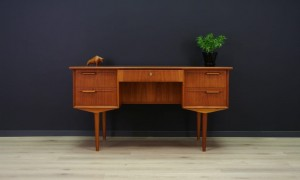RETRO TEAK WRITING DESK DANISH DESIGN VINTAGE