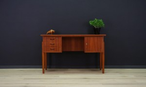 WRITING DESK DANISH DESIGN RETRO TEAK VINTAGE