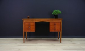 TEAK WRITING DESK DANISH DESIGN MID-CENTURY RETRO