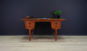 VINTAGE WRITING DESK DANISH DESIGN TEAK RETRO