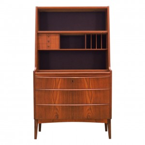 Secretaire teak, Danish design, 70's
