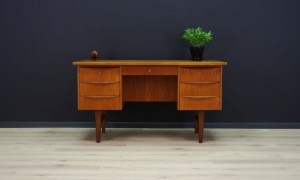 SCANDINAVIAN DESIGN WRITING DESK TEAK RETRO