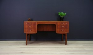 WRITING DESK CLASSIC TEAK RETRO 60 70 VINTAGE