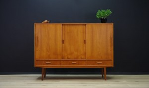VINTAGE TEAK HIGHBOARD 60 70 DANISH DESIGN