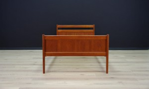 BED RETRO TEAK DANISH DESIGN MID-CENTURY