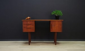 WRITING DESK TEAK VINTAGE SCANDINAVIAN DESIGN