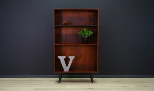 VINTAGE BOOKCASE DANISH DESIGN ROSEWOOD RETRO