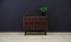 CHEST OF DRAWERS ROSEWOOD VINTAGE RETRO CLASSIC