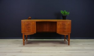 TEAK WRITNG DESK RETRO VINTAGE 60 70 DANISH DESIGN